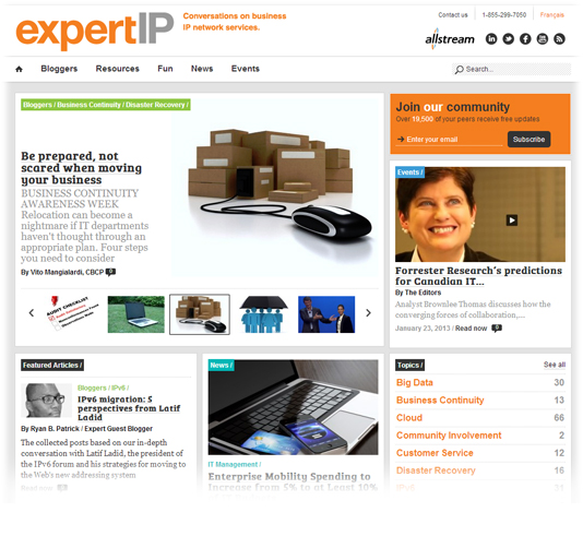 Allstream's ExpertIP Blog