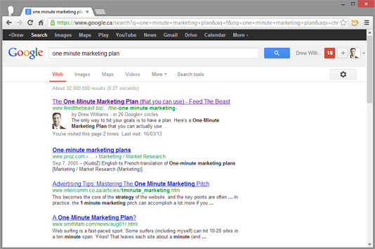 Sample SEO Results